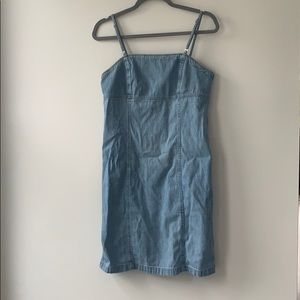 Vintage 90s denim mini dress